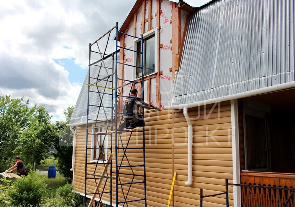 Монтаж сайдинга в СПб на объекте в Ленинградской области